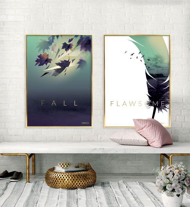 feb1474462d Plakater i efterårets farver (Grøn, Lilla og Guld)